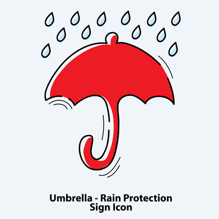 umbrella sign icon. rain protection symbol. vector illustration Illustration