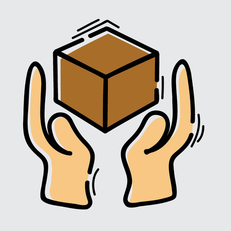handle with care icon, vector illustration Illustration