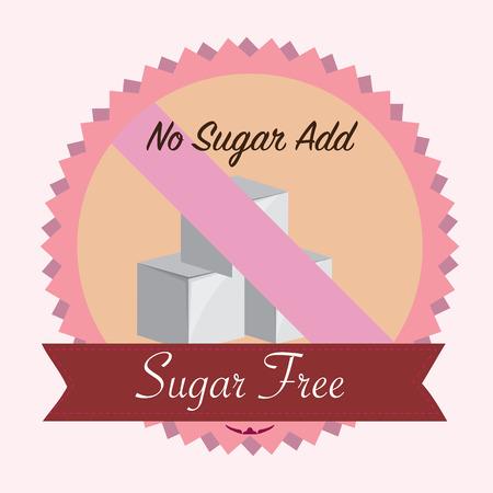 無料砂糖砂糖を追加しません。フラットのベクトル図