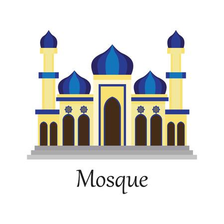 Mosque / Masjid for Muslim pray icon vector illustration.