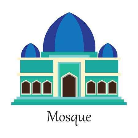 muhammed: Mosque  Masjid for Muslim pray icon vector illustration