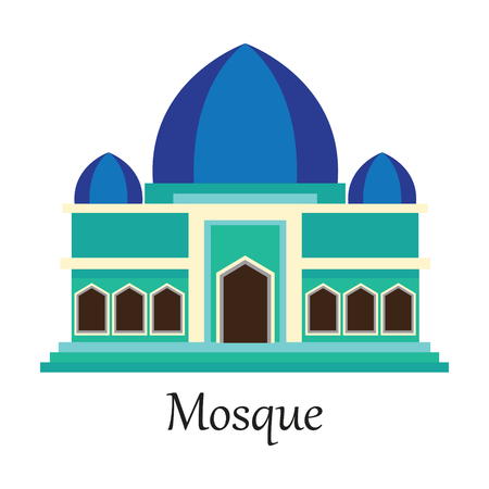 Mosque  Masjid for Muslim pray icon vector illustration