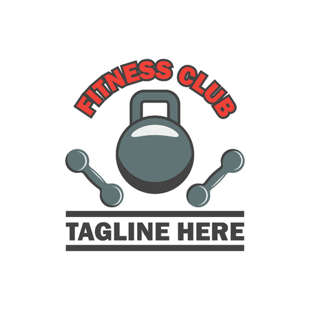 fitness logo with text space for your slogan  tagline, vector illustration Illustration