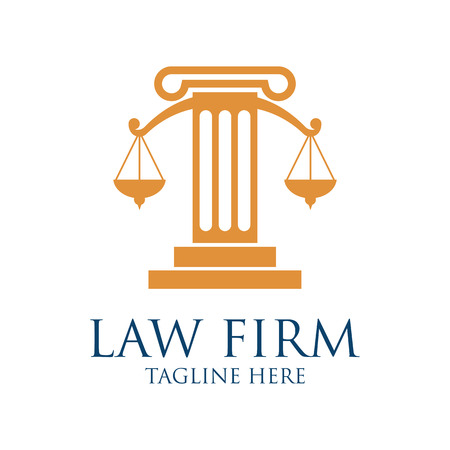 impartiality: Law firm logo with text space for your slogan  tagline, vector illustration