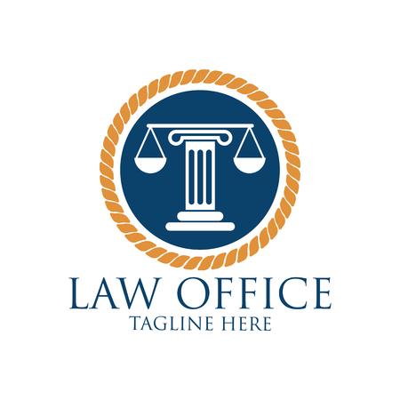 Advokaturbüro Logo mit dem Text Raum für Ihren Slogan / Tagline, Vektor-Illustration Standard-Bild - 75356665