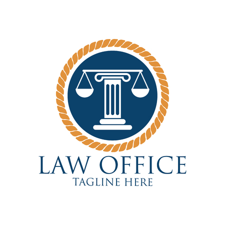Law firm logo with text space for your slogan / tagline, vector illustration