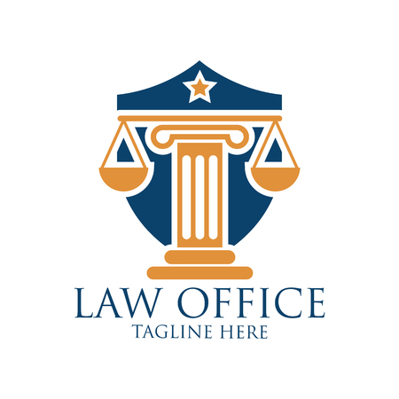 Law firm logo with text space for your slogan  tagline, vector illustration