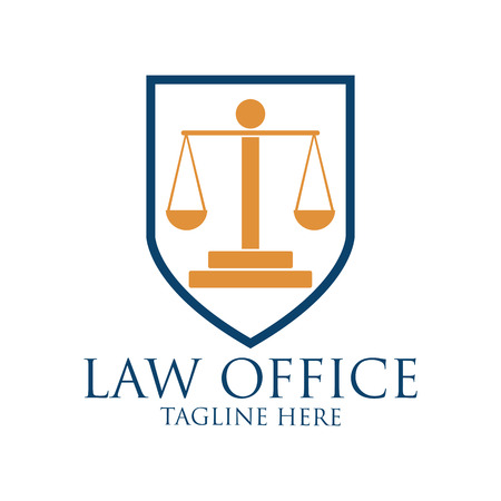goverment: Law firm logo with text space for your slogan  tagline, vector illustration