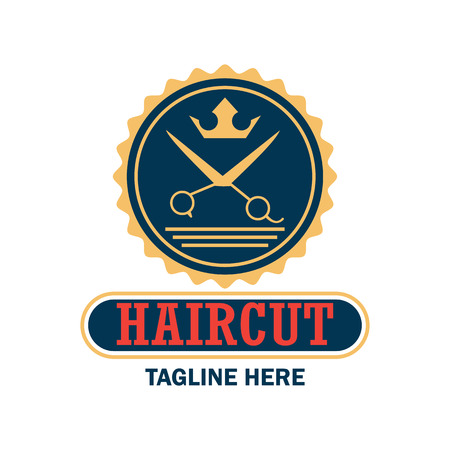 barbershop: Barber shop logo with text space for your slogan  tagline, vector illustration
