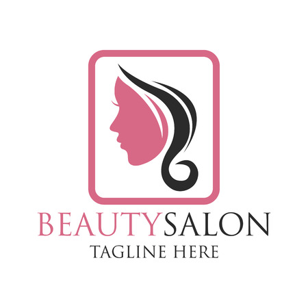 tagline: Beautician logo with text space for your slogan  tagline, vector illustration Illustration