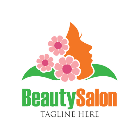 spa therapy: Beautician logo with text space for your slogan  tagline, vector illustration Illustration