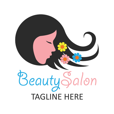 tagline: beautician logo with text space for your slogan  tagline, vector illustration