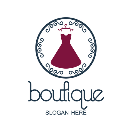 tagline: boutique logo with text space for your slogan  tagline, vector illustration