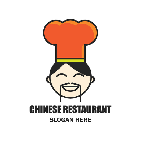 Restaurante Chino / Logotipo De Comida China Con Espacio De