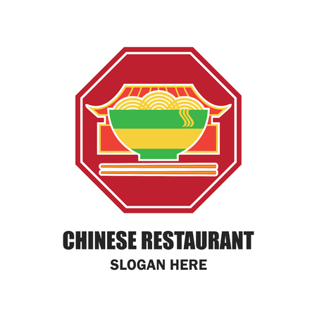 stir: chinese restaurant  chinese food logo with text space for your slogan  tagline, vector illustration