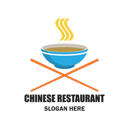 Chinese restaurant  chinese food logo with text space for your slogan  tagline, vector illustration. Illustration