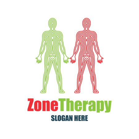 tagline: reflexology, zone therapy logo with text space for your slogan  tagline