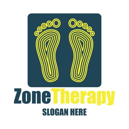 reflexology, zone therapy logo with text space for your slogan  tagline