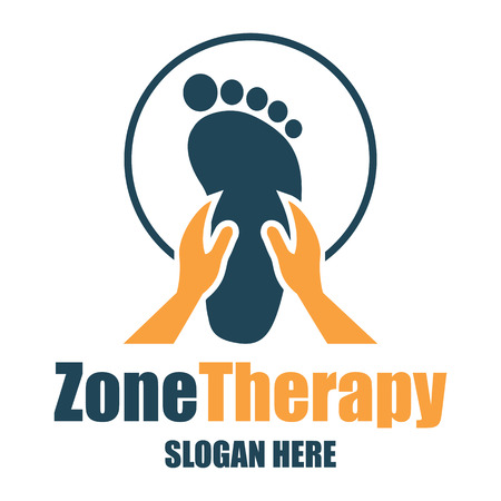 reflexology, zone therapy logo with text space for your slogan / tagline Stock Vector - 76007634