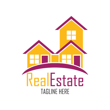 real estate logo with text space for your slogan  tagline, vector illustration Illustration