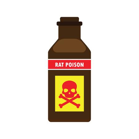 poison: rat killer poison liquid in the bottle concept. vector illustration