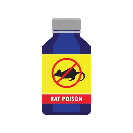 mouse: rat killer poison liquid in the bottle concept. vector illustration