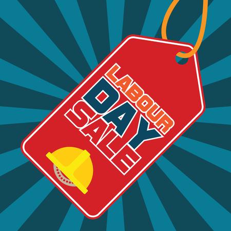 poster of labor day sale illustration