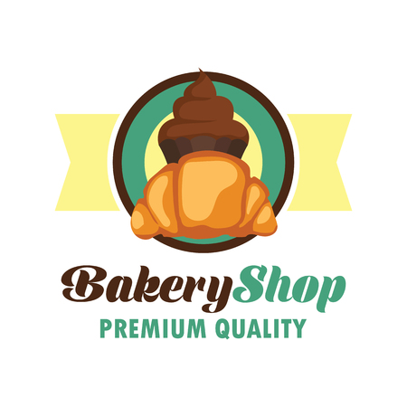 loaf: Bakery logo with text space for your slogan  tagline, vector illustration