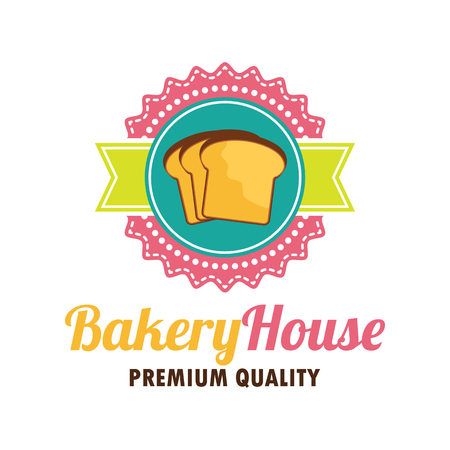 Bakery logo with text space for your slogan  tagline, vector illustration
