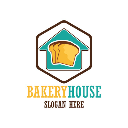 tagline: Bakery logo with text space for your slogan  tagline, vector illustration