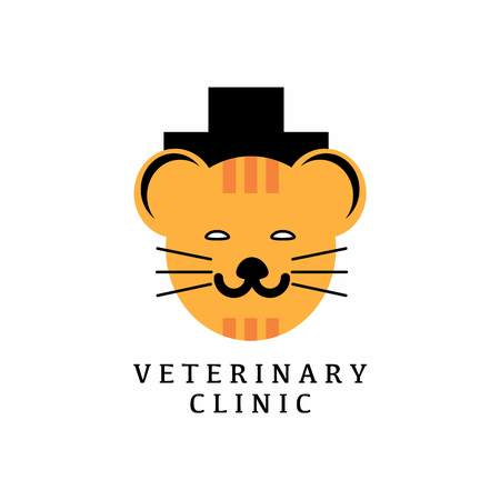 veterinary logo with text space for your slogan  tagline, vector illustration Illustration