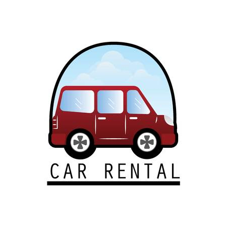 car rent logo with text space for your slogan  tagline, vector illustration