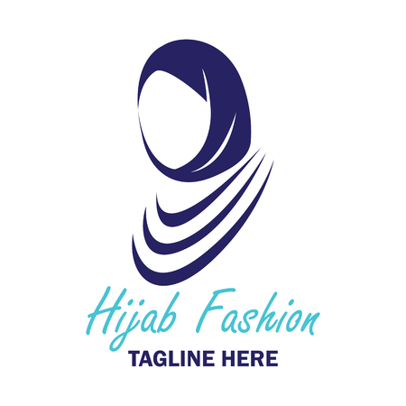 hijab logo with text space for your slogan  tag line, vector illustration Illustration