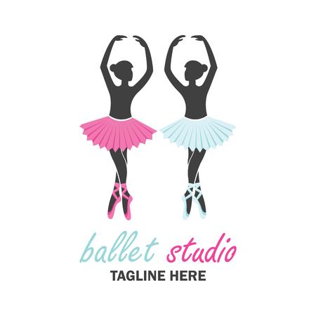 バレエ バレエスクール、ダンス スタジオのロゴ。ベクトル図