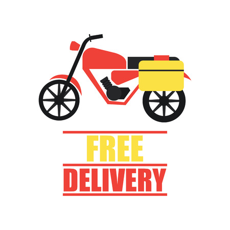 delivery concept (free, fast, food delivery) vector illustration