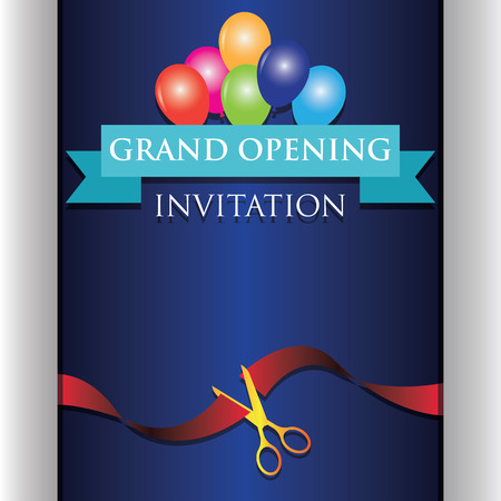 grand opening invitation poster. vector illustration