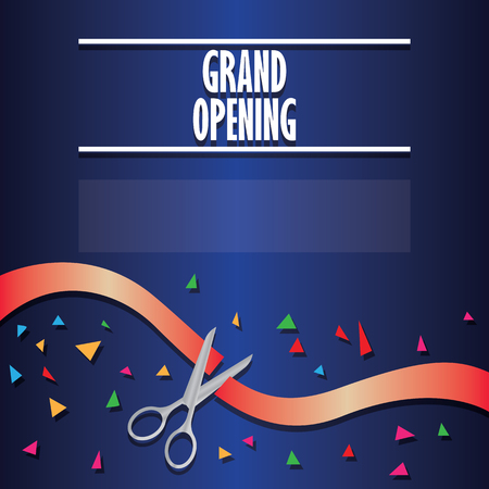 grand opening poster. vector illustration
