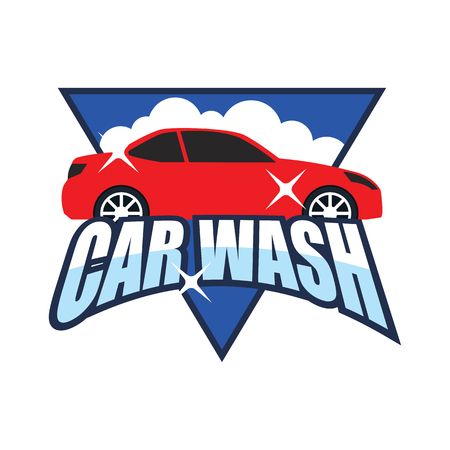 car wash service logo, vector illustration Stock Illustratie