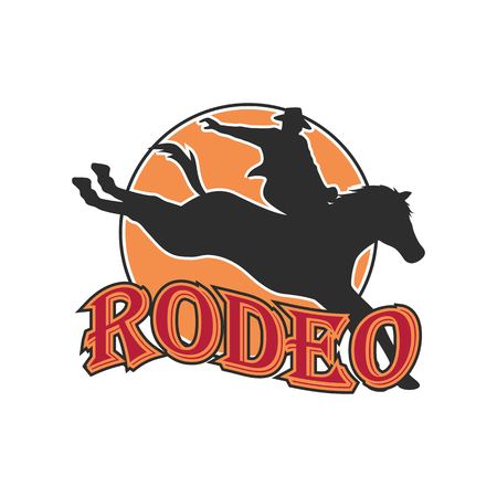 rodeo logo for your sport business, vector illustration