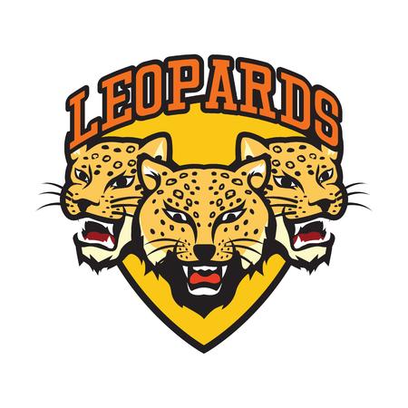 leopards logo, vector illustration