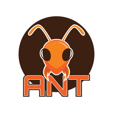 ants logo, vector illustration Vettoriali
