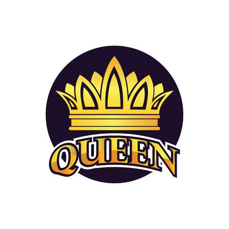 queen crown logo, vector illustration Logo