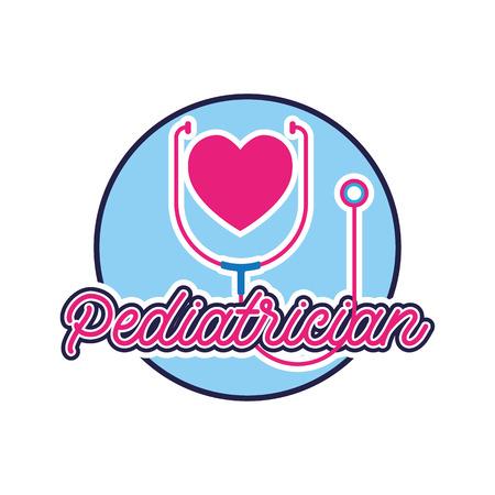 pediatrician logo for doctor or clinic, vector illustration