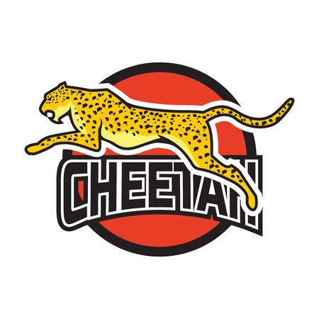 cheetah logo, vector illustration