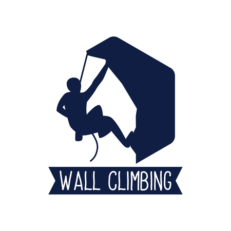 climbing wall sport logo, vector illustration