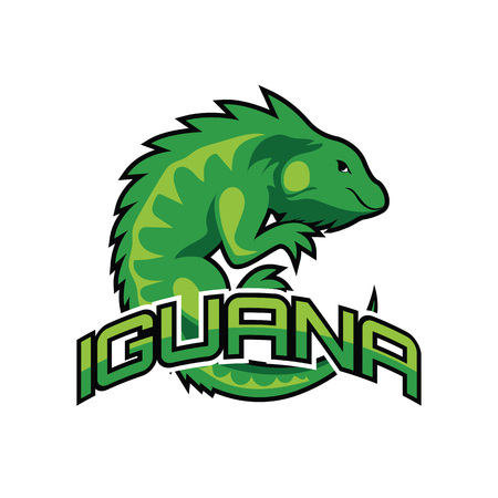iguana logo for your business, vector illustration Ilustração