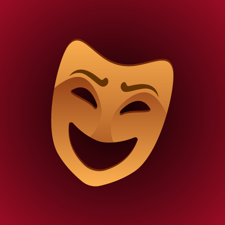 theatrical mask laughing expression. vector illustration