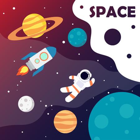 Weltraumuniversum-Plakat. Vektor-Illustration