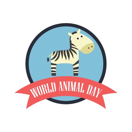World Animal Day. Vector Illustration