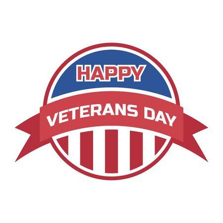 happy veteran's day for american veteran. vector illustration